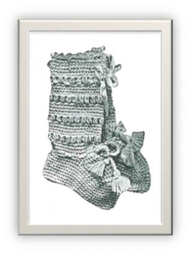 #1130 INFANT BOOTIES VINTAGE CROCHET PATTERN (Single Patterns) (English Edition) -