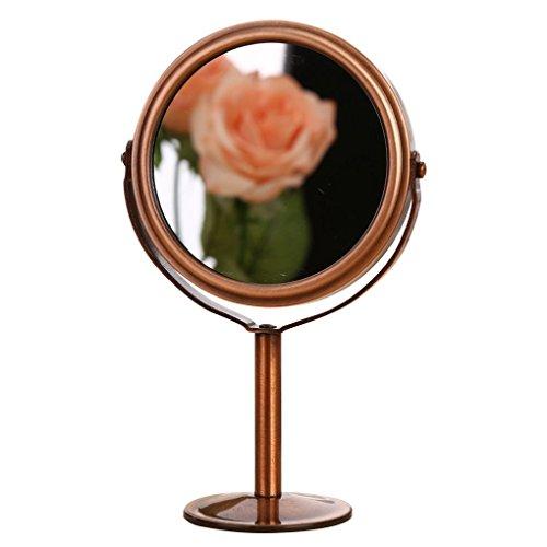 Lufa retro doppio lato salone di parrucchiere specchio di trucco specchio 1: 2 funzione di ingrandimento