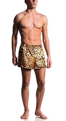 MANstore M609 Boxer Shorts - Fb. Safari (Ozelot Animal Print) - Gr. M - Limitierte Kollektion (Safari Boxer)