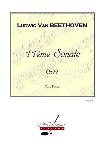 Beethoven ludwig van sonate no.11 op.22 piano book piano