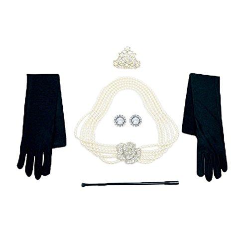 stück bei Tiffany Pearl Schmuck und Zubehör Set Flapper Kostüm für Frauen (ohne Geschenkbox) ()
