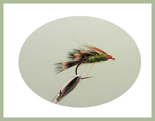 Sedgehog Trout Fliegen, 6Pack olive sedgehogs Wahl von Größen, für Fliegenfischen