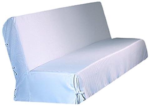 HomeMaison.com HM69453750 Housse de Clic-Clac Moderne Piqué Polyester Blanc 200 x 140 cm