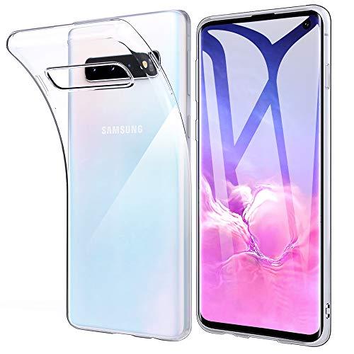 Beetop Kompatibel Mit Samsung Galaxy S10 Hülle Schutzhülle Ultradünn Handyhülle Transparent Weiche Silikon TPU Rückschale Case Cover - Transparent