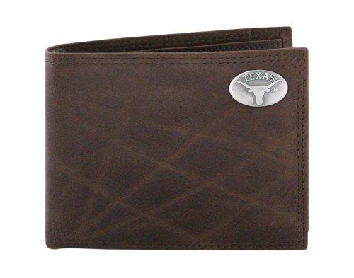 ZEP-PRO NCAA Texas Longhorns Geldbörse, Leder, faltbar, Einheitsgröße, Braun (Longhorns-geschenk-karte)