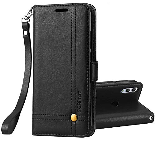 Ferilinso Cover for Xiaomi Redmi 7 PRO / Xiaomi Mi Play, High Quality PU Wallet Case with Credit Card Holder ID Magnetic Closure (Black)