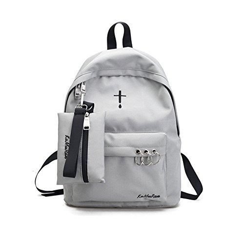 Spalle in nylon pacchetto coppie dual borse a tracolla e alla moda, zaino ,A B