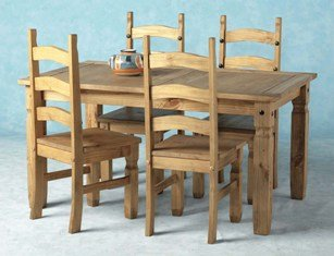 Corona Dining Set 5'/Dining Table and Chairs New - cheap UK dining table shop.