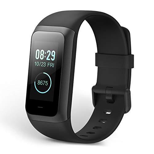 Amazfit Cor 2 fitness fascia di frequenza cardiaca e di una giornata Huami con monitoraggio attività, 5 atm, 4 modalità di sport, mobile notifiche, display LCD a colori (colore nero)