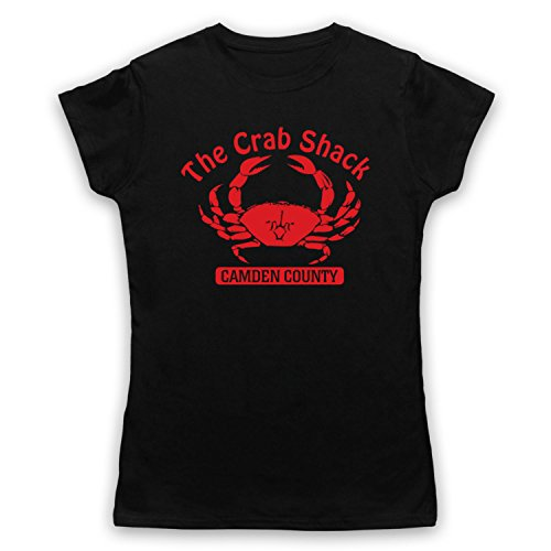 Inspiriert durch My Name Is Earl Crab Shack Unofficial Damen T-Shirt Schwarz