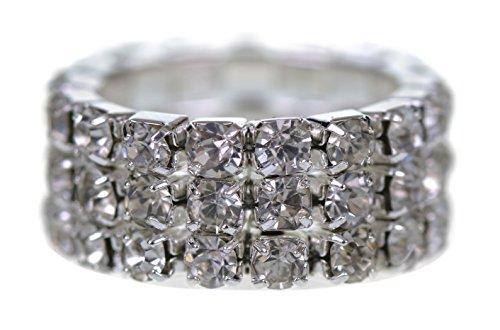 Supgod - Anello con diamanti finti e