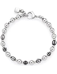 Leonardo Jewels Damen-Armband Diverso edelstahl Glas silber 19,5cm