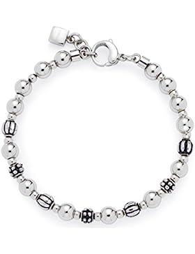 Leonardo Jewels Damen Armband Diverso Edelstahl Glas silber 19,5 cm   015720