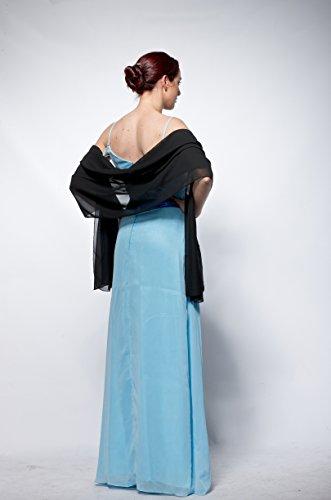 atopdress - Robe - Portefeuille - Sans Manche - Femme Noir noir Noir