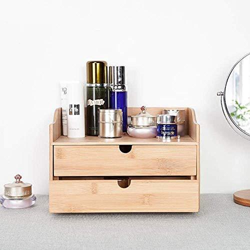 Jazi Regale Regale 3-Tier Desktop Organizer Mini Schreibtisch Make-up Organizer mit Schubladen Ideal für Schreibtisch Eitelkeit Tischplatte im Haus, Büro 11,8 X 7,1 X 1,87 in Racks -