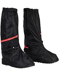 HSeaMall Zapatos a Prueba de Agua Cubierta Reutilizable Botas Cubierta Antideslizante Cremalleras Oversize Talla