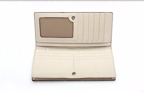lpkone-Motif Python mesdames long bi-fold wallet portefeuille-cartes sac sac à main de mode de luxe Primary colors