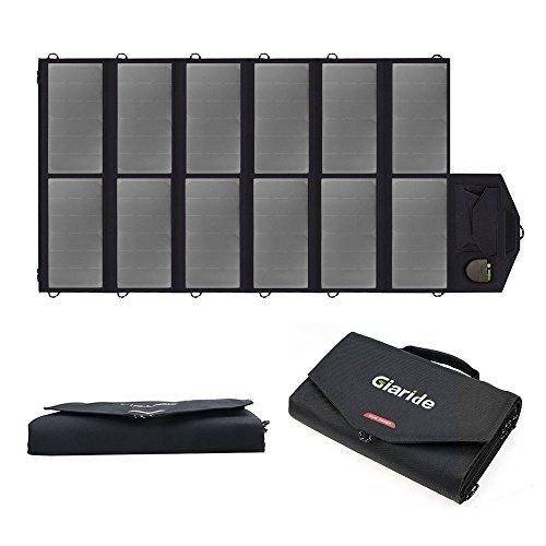 Especificación:   * Capacidad: 80W  * Carga de salida: 2x5V 2.4A (Max.USB) 1x 18V2.8A (Max.DC)  * Rendimiento de conversión solar: 23,5%  * Salida doble: USB y DC5521  * Tamaño abierto: 135*60*0.6CM / 53.1*23.6*0.24inch  * Tamaño compacto: 31*19*9CM...