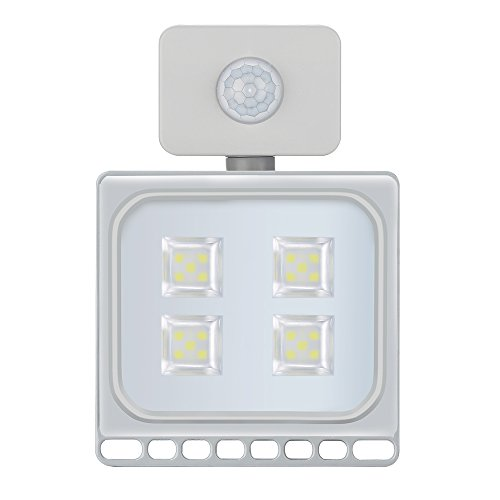 Unbekannt Per Bewegungs-Sensor-LED Flutlicht-Scheinwerfer-wasserdichte IP67 120 ° Arbeits-Lichter für Garage/Garten/Rasen/Lager/Quadrat/Yard-20W, - Flut-licht Bewegungs-sensor Führte