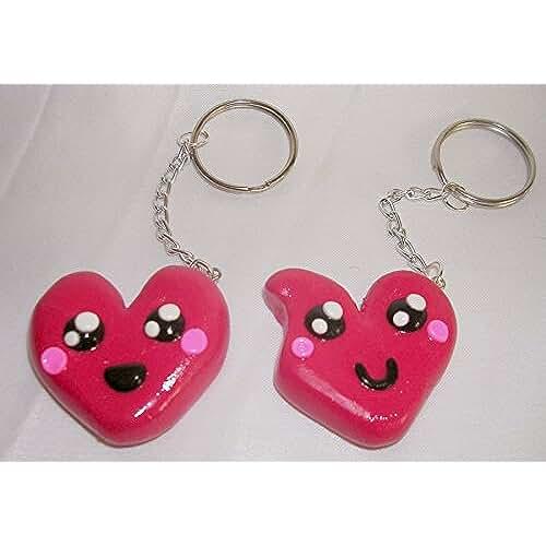 Llavero corazón doble kawaii | San Valentín