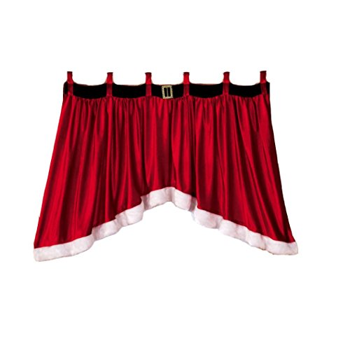 La cortina de la Navidad, Lanowo calidad superior mezcló la ventana de la puerta del algodón cubre el hogar decorativo 92 * 160 * 77cm de la cortina de la Navidad del panel