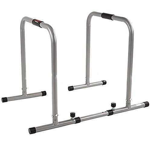 Verstellbarer Parallel Bars (Kraftturm für Bodybuilding Fitness Dip Station Body Press Parallel Bar mit verstellbarer Länge und Schaumstoffgriffen Bodybuilding Pull Up / Dip ( Farbe : Steel color , Größe : 116*66*76cm ))