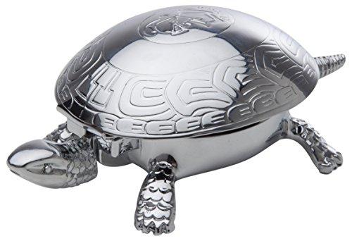 El Casco Schildkröte Bell und Briefbeschwerer Glänzendes Chrom chrome