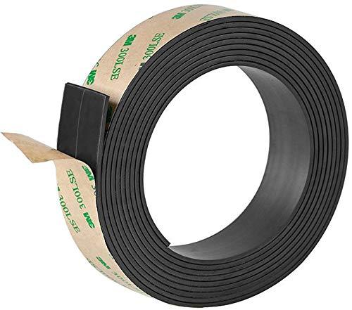 Tougo 10 Piedi Forte Nastro magnetico - Autoadesivo, Tagliabile e 2 mm Spessore - Rotolo Magnetic per Poster, Foto e Fogli