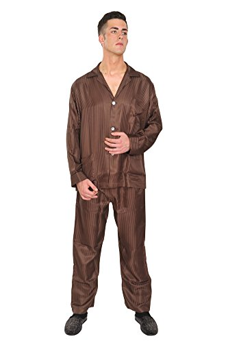 brioni-pajama-men-dark-brown-silk-striped