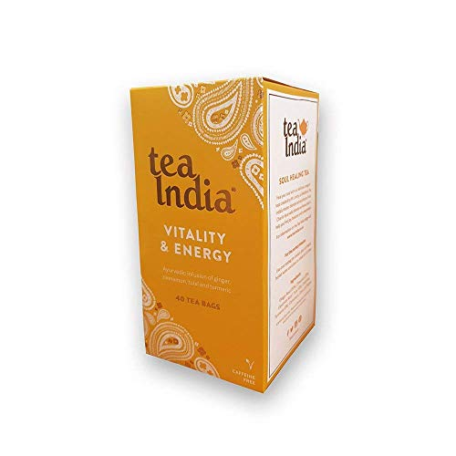 Tea India - Vitality & Energy - 40 Caffeine Free Tea Bags