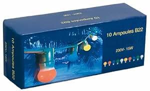 DIGE n17xmg74jaune - Boite de 10 ampoules B22, 15W, Jaunes