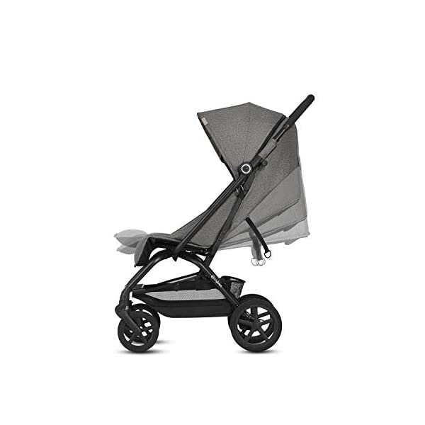 CYBEX Gold Eezy S+, Compact Pushchair, One-hand folding mechanism, Lightweight, From birth to 17 kg (about 4 years), Denim Blue Cybex Sturdy, High-quality Compact Pushchair for newborns up to approx. 17 kg (approx. 4 years) with one-hand folding mechanism and infinitely adjustable backrest - Including raincover for optimum use in all weather conditions Optimum comfort for parent and child: Light and easy to manoeuvre around the city thanks to large all-terrain wheels with all-wheel suspension, Comfortable sitting position thanks to infinitely adjustable backrest with lie-flat position Simple one-hand folding mechanism for travel-friendly size - LxWxH: 29 x 45 x 59 cm, 2-in-1 travel system compatibility with separately available CYBEX and gb baby car seats 2