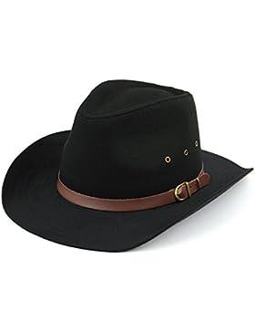 Hawkins borde ancho stetson sombrero con orificios de ventilación negro o beige