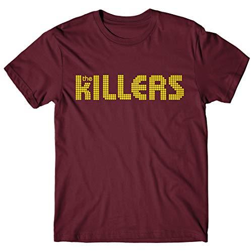 LaMAGLIERIA Herren-T-Shirt The Killers - T-Shirt Indie Band 100% Baumwolle, M, Bordeaux (Killers Band-shirt)