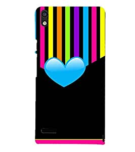 MULTICOLOURED HEAR SHAPED PATTERN 3D Hard Polycarbonate Designer Back Case Cover for Huawei Google Nexus 6P :: Google Nexus 6P :: Nexus 6P