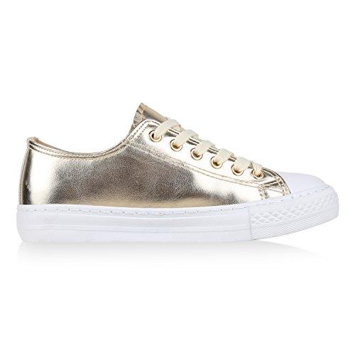 Japado , Sneakers Basses femme Doré métallisé