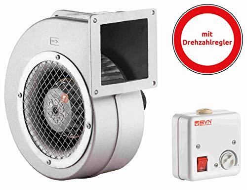 Radialventilator AC Zentrifugalventilator Aluminiumgehäuse 600m³/h 85-40 inklusive Drehzahlregler