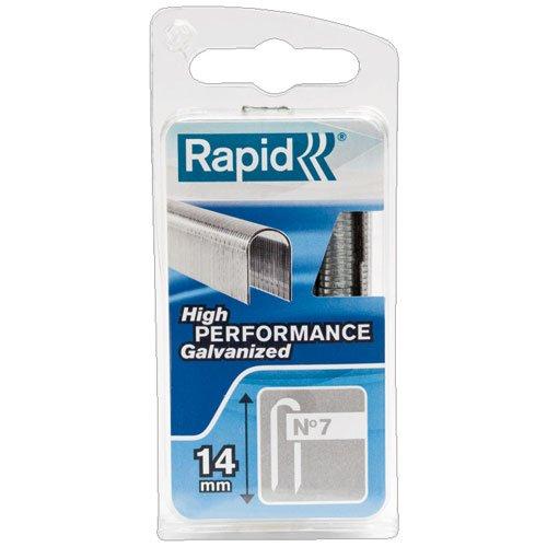 Rapid, 40109524, Agrafes en fil plat N°7, Longueur 14mm, 960...