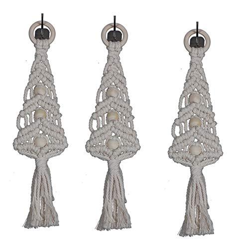 Gmacce boho macrame hanging wall decor, decorativo wall art corda in cotone cord woven tapestry decorazioni per la casa per il soggiorno cucina camera da letto o appartamento