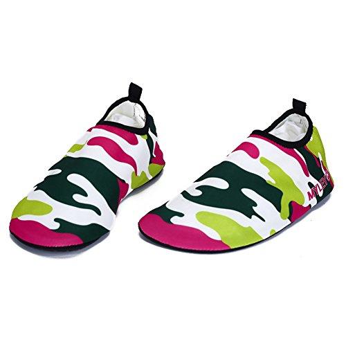Brightup unisex Aqua Water sport calzini vela scarpe da spiaggia piscina esercizio Red 1
