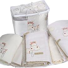 Bed-e-Byes Zippy Zebra - Juego de ropa de cuna (incluye colcha, 5 piezas), diseño con cebra