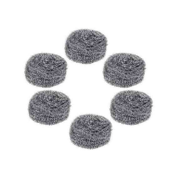 Ruchi Creations Stainless Steel Scrubber Scrub Sponge (Regular, Pack of 6) Scrub Pad (Regular, Pack of 6)