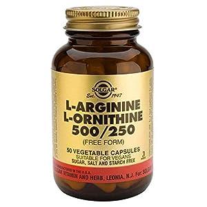 41XxmP3nMXL. SS300  - Solgar L-Arginine 500 mg / L-Ornithine 250 mg Vegetable Capsules - Pack of 50