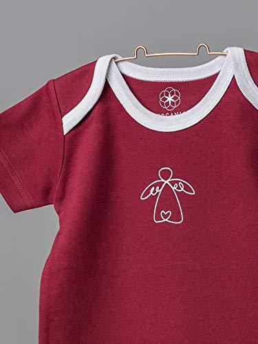Organic by Feldman Unisex Baby Body Kurzarm aus Bio Baumwolle, GOTS Zertifiziert, Schutzengel Rot, (86/92) - 3