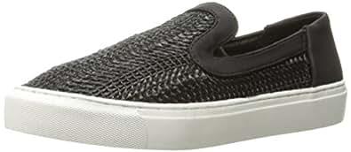 STEVEN by Steve Madden Women's Kenner Sneaker, Black, 6 Medium US