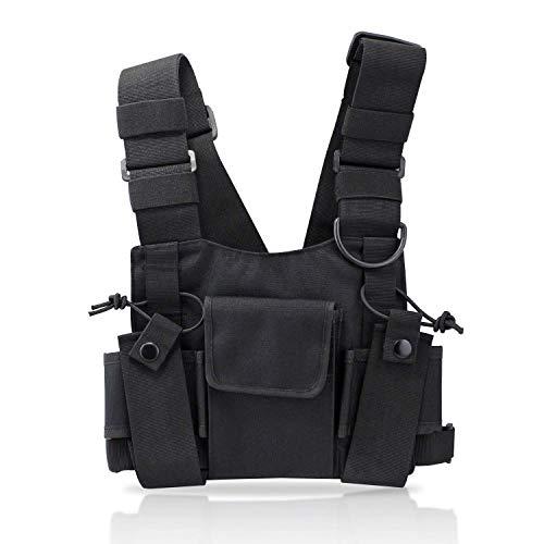 KEESIN Radio Walkie Talkie Brusttasche Harness Taschen-Pack Rucksack Two Way Radios Tragetasche Zubehörhalter (Tippe B) - Brusttasche