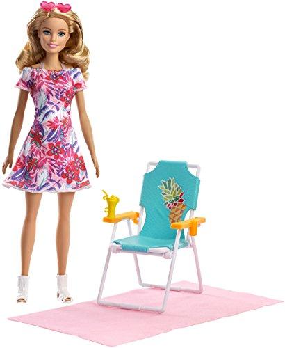 Barbie FPR54 Beach Chair Blonde Sessel usw für den -