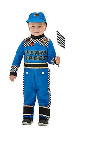 Smiffys 47716T1 Kleinkind Rennauto Fahrer Kostüm Jungen (Car Racing Kostüm Für Jungen)