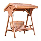 Roofed Apex Swing Seat Beech