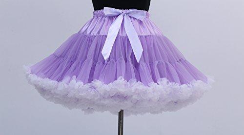 FOLOBE di ballo di balletto del costume di Tutu delle donne di 40cm / 16  Purplewhite